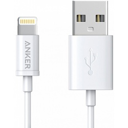 Кабель USB-Lightning 1.8м (Anker Powerline A7122G21) (белый)