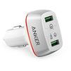 Автомобильное зарядное устройство Anker PowerDrive+ 2 A2224H21 (белый) - Автомобильное зарядное устройствоАвтомобильные зарядные устройства<br>Автомобильное зарядное устройство для зарядки мобильных устройств, подключается к прикуривателю автомобиля, 2хUSB порта(1 USB-2А, 2 USB-3.1А); защита от перегрева, короткого замыкания и перегрузки. Технология Quick Charge 3.0, кабель microUSB в комплекте, упакован в Offline Packaging V3. Суммарный ток: 5.1 А, материал корпуса: пластик.<br>