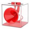 Док-станция для Apple iPhone (Baseus Amplify Sound Charging Station SUHJH-09) (красный) - Док станция