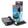 Универсальный блок питания для ноутбуков Robiton NB7000 (черный) - Сетевая, автомобильная зарядка для ноутбукаСетевые и автомобильные зарядки для ноутбуков<br>Robiton NB7000 - блок питания, мощность 150 Вт (максимальный ток 7А), LCD дисплей для индикации выбранного напряжения, USB разъем 2А. Напряжение: 12/15/16/18/19/20/22/24 В, 11 сменных штекеров для ноутбуков всех популярных марок (Gigatech, IBM, BenQ, HP, Compaq, Siemens, Dell, Sony, Panasonic, Toshiba, Asus, Acer, Samsung). Обеспечивает автоматическую защиту от перегрузок, короткого замыкания и перегрева.<br>