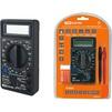 Мультиметр цифровой TDM М-838 (SQ1005-0003) - Вспомогательное оборудованиеВспомогательное оборудование<br>TDM М-838 - мультиметр цифровой, максимальное показание дисплея: 1999 (с определением полярности), метод измерения: АЦП двойного интегрирования, частота измерения сети:2-3 раза в сек, ширина раскрытия клещей: 50 мм, защита от перегрузок по току: предохранитель 250мА/250В, степень защиты: IP20, диапазон рабочих температур: от 0 до +40 C, напряжение питания: 9 В (батарея типа «КРОНА» NEDA1604, 6F22).<br>
