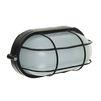 Светильник TDM НПБ1402 (черный/овал с решеткой) - Настольная лампа, ночник, светильник, люстраНастольные лампы, светильники, ночники, люстры<br>Светильник, диапазон рабочих температур: от -45°С до +100°С, класс защиты от поражения электрическим током: 1, климатическое исполнение: У2, У3. Минимальное расстояние до освещаемого объекта: 0.5 м, мощность: 60 вт, номинальная частота: 50 Гц, номинальное рабочее напряжение: 220 В, сечение подключаемых проводников: 0,75-1,5 мм2, степень защиты: IP54, тип источника света: ЛОН, КЛЛ, LED. Тип цоколя: Е27.<br>