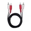 Кабель 2xRCA (m)-2xRCA (m) 1.5м (Ritmix RCC-075) (черный) - Кабель, разъем для акустической системыКабели и разъемы для акустических систем<br>Ritmix RCC-075 – кабель, который предназначен для передачи композитного сигнала, а также стереозвука. CCS, омедненный, никелированный, длина кабеля 1.5 м.<br>