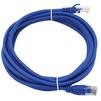 Патч-корд UTP кат.5е 15м (TV-COM NP511-15M-B) (синий) - КабельСетевые аксессуары<br>Патч-корд UTP, категория 5е, многожильный, длина 15м.<br>