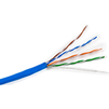 Витая пара U/UTP кат.5e 305м (Hyperline UUTP4-C5E-S24-IN-PVC-BL-305) (синий) - КабельСетевые аксессуары<br>Кабель U/UTP, кат.5e, 4 пары, 24 AWG, одножильный (solid), PVC, 305м.<br>