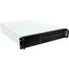 Procase EB205-B-0 (черный) - Рэковое сетевое хранилищеРэковые сетевые хранилища<br>Корпус Rackmount, без БП, отсеки: внутренние 6х3.5, 2х5.25, интерфейсы 2хUSB 2.0, монтаж в 19 стойку: 2U, 482х88.9х550 мм, вес: 8.4кг.<br>