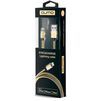 Кабель USB-Lightning 1м (Qumo 21716) (золотистый) - Usb, hdmi кабель, переходникUSB-, HDMI-кабели, переходники<br>Кабель предназначен для зарядки и синхронизации устройств с разъемами USB - Lightning. Изготовлен из высококачественных материалов, длина 1 м. Сертификация MFI.<br>