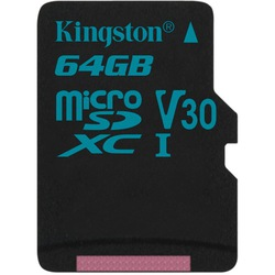 Kingston microSDXC 64GB Class 10 UHS-I U3 w/o adapter (SDCG2/64GBSP)