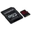 Kingston microSDXC 128GB UHS-I U3 + SD adapter (SDCR/128GB)  - Карты памятиКарты памяти<br>Карта памяти microSDXC, объем 128Гб, UHS-I U3 V30, в комплекте SD адаптер.<br>