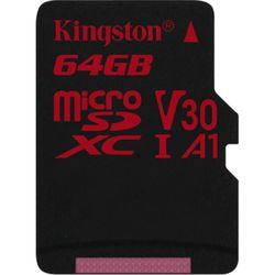 Kingston microSDXC 64GB UHS-I U3 w/o adapter (SDCR/64GBSP)