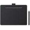 Wacom Intuos S CTL-4100K-N (черный) - Графический планшетГрафические планшеты<br>Рабочая поверхность Small: 152x95 мм, клавиша ExpressKey: 4 программируемых для конкретного приложения настройки, уровни давления: 4096, разрешение: 2540 lpi, перо: Wacom Pen 4K (LP-1100K), скорость чтения (перо): 133 pps, интерфейс USB.<br>