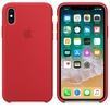 Чехол накладка для Apple iPhone X (Apple MQT52ZM/A) (PRODUCT) RED (красный) - Чехол для телефонаЧехлы для мобильных телефонов<br>Силиконовый чехол с приятной на ощупь поверхностью. Создан Apple специально для iPhone X, поэтому Ваш телефон в этом чехле все-равно будет выглядеть невероятно тонким.<br>