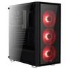 AeroCool Quartz Black/red - КорпусКорпуса<br>Компьютерный корпус Midi-Tower, без блока питания, форм-фактор ATX, mATX, Mini-ITX, спереди: USB x3, наушн., микр., материал: сталь.<br>