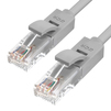 Патч корд UTP кат.5е, RJ45 0.5m (Greenconnect GCR-50684) (серый) - КабельСетевые аксессуары<br>Патч-корд прямой, 0.5m, LSZH, UTP, кат.5e, серый, 24 AWG, литой, ethernet high speed 1 Гбит/с, RJ45, T568B.<br>