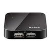D-Link DUB-H4/D1A (черный) - USB HUBUSB HUB<br>Компактный концентратор с 4 портами USB 2.0 (4 порта USB Downstream типа A, 1 порт USB Upstream типа Mini-B).<br>