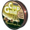 Рыболовная леска BALSAX Gold Carp 150м 0.35 мм (13-12-20-262) - ЛескаЛеска рыболовная<br>Рыболовная леска Gold Carp - это чувствительная леска для крупной рыбы. Отличная сопротивляемость разрыву и контролируемая растяжимость. Превосходно выдерживает на узлах максимальное напряжение, связанное с ловлей крупных экземпляров карпа. Благодаря точно подобранному цвету - медово-желтому -  незаменима при ловли карпа. Она не впитывает воду, мало восприимчива к солнечным лучам.<br>