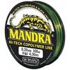Рыболовная леска BALSAX Mandra 100м 0.20 мм (13-12-20-043) - ЛескаЛеска рыболовная<br>Рыболовная леска Mandra - прочная на разрыв леска, хорошо видна над водой. Обладает контрастной цветовой гаммой, что и является ее особенностью. Выполнена из Hi-Tech Copolymer. Отлично подходит для любой из техник ловли рыбы, хорошо зарекомендовала себя в любых погодных условиях.<br>