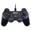 Ritmix GP-005 (черный) - Руль, джойстик, геймпадРули, джойстики, геймпады<br>Проводной геймпад для ПК, подключение через USB, виброотдача, 2 мини-джойстика, крестовина, 16 кнопок.<br>