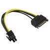 Кабель SATA 15pin (M)- 6pin (ORIENT C512) (черный) - Кабель, переходникКабели, шлейфы<br>Переходник питания для PCI-Express видеокарт, SATA 15pin (Male) - подключается к блоку питания ПК, 6pin (Female) - подключается к разъему питания видеокарты.<br>