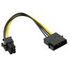 Кабель Molex 4pin (M)-6pin (ORIENT C511) (черный) - Кабель, переходникКабели, шлейфы<br>Переходник питания для PCI-Express видеокарт, Molex 4pin (Male) - подключается к блоку питания ПК, 6pin (Female) - подключается к разъему питания видеокарты.<br>