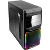 AeroCool V3X RGB Black w/o PSU - КорпусКорпуса<br>Компьютерный корпус Midi-Tower, без блока питания, форм-фактор ATX, mATX, Mini-ITX, спереди: USB x3, наушн., микр., материал: сталь.<br>