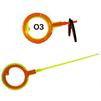 Удилище Пирс Мастер WHA 50 B L100 ОЗ (оранжево-зеленый) - Рыболовное удилищеУдилища<br>Удилище для зимней рыбалки, одноколенное, материал пластик, длина шестика 100 мм.<br>