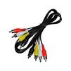 Кабель 4хRCA-4xRCA 1м (Rexant 17-0301) (черный) - Кабель, разъем для акустической системыКабели и разъемы для акустических систем<br>Кабель 4хRCA-4xRCA, никелированные контакты, длина 1м. Предназначен для передачи аналогового видео и аудиосигнала.<br>