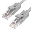 Патч-корд UTP кат. 6, RJ45 5м (Greenconnect GCR-50743) (серый) - КабельСетевые аксессуары<br>Патч-корд, прямой, 5m, LSZH, UTP, кат.6, серый, 24 AWG, литой, ethernet high speed, RJ45, T568B.<br>
