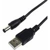 Кабель питания USB-DC разьем 2.1х5.5мм (Rexant 18-0231) (черный) - Кабель, переходникКабели, шлейфы<br>Предназначен для обеспечения работы портативных электронных устройств, имеющих разъем питания 2.1ммх5.5мм, длина кабеля 1.5 м.<br>