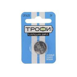 Литиевая батарейка Трофи CR1620 BL1