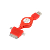 Кабель USB-Lightning, microUSB, Apple 30-pin (Rexant 18-4055) (красный) - Usb, hdmi кабель, переходникUSB-, HDMI-кабели, переходники<br>Предназначен для зарядки и синхронизации, 3 в 1 Lightning, microUSB, Apple 30-pin, рулетка позволяет изменять и фиксировать длину кабеля (1м).<br>