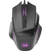 Redragon Phaser - МышьМыши<br>Проводная игровая мышь. Широкое прорезиненное колесо прокрутки шириной 8 мм с подсветкой. 2 дополнительные боковые кнопки.<br>