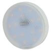 Светодиодная лампа ЭРА LED smd GX-12w-827-GX53 - ЛампочкаЛампочки<br>ЭРА LED smd GX-12w-827-GX53 - светодиодная лампа, высота: 25 мм, диаметр: 75 мм, индекс цветопередачи: Ra&80, мощность: 12W, напряжение: 170-265V, светоотдача: 80 Lm/W, цветовая температура: 2700K, цоколь: GX53, световой поток: 960 Lm. Материал: пластик, металл. Совместимость с выключателем с подсветкой.<br>