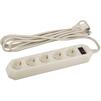 Сетевой фильтр 5 розеток 5м (Эра USF-5es-5m-I) (слоновая кость) - Сетевой фильтрСетевые фильтры<br>Сетевой фильтр на 5 розеток с заземлением, защита от импульсных помех, защита от перегрузки и короткого замыкания, длина шнура 5м.<br>