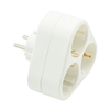 Тройник Oxion Comfort (OX-ACADPTR3X16WH) (белый) - Сетевой фильтрСетевые фильтры<br>3 розетки с заземлением, материал корпуса: полипропилен (PP), максимальная суммарная мощность нагрузки: 2200 Вт.<br>