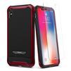 Чехол-накладка для Apple iPhone X (Spigen Reventon 057CS22698) (красный металлик) - Чехол для телефонаЧехлы для мобильных телефонов<br>Защитит смартфон от грязи, пыли, брызг и других внешних воздействий.<br>
