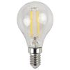 Светодиодная лампа Эра F-LED P45-7w-827-E14 - ЛампочкаЛампочки<br>Эра F-LED P45-7w-827-E14 - светодиодная лампа, диаметр: 45 mm, индекс цветопередачи: Ra&80, мощность: 7W, напряжение: 170-265V, светоотдача: 99 Lm/W, цветовая температура: 2700К, цоколь: Е14, диапазон рабочих температур: - 25..+50°C, световой поток: 695 Лм, материал: стекло, пластик, металл.<br>