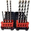 Набор буров по бетону Bosch 2607019902 - Бур для перфоратораБуры для перфораторов<br>Набор буров по бетону, SDS-plus, 8 штук в наборе, 6x50x110 мм (2 шт.), 6x100x160 мм (2 шт.), 8x100x160 (2 шт.), 10x100x160 мм (2 шт.), в футляре.<br>