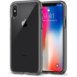 Чехол-накладка для Apple iPhone X, Xs (Spigen Ultra Hybrid 057CS22131) (дымно-кристальный)