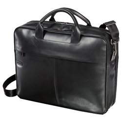 dell black leather bag 15.6