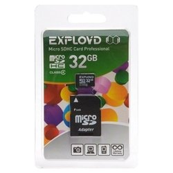 exployd microsdhc class 4 32gb + sd adapter