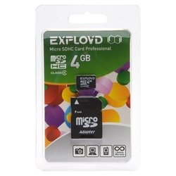 EXPLOYD microSDHC Class 4 4GB + SD adapter