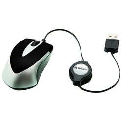 verbatim optical travel mouse go mini black usb