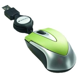 verbatim optical travel mouse green usb