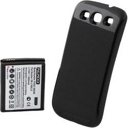 Усиленный аккумулятор для Samsung Galaxy S3 i9300 (Palmexx) (увеличенной, повышенной емкости 4600 мАч + задняя крышка) (черный)