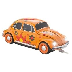 Click Car Mouse VW Beetle Flower Power Wired Orange USB