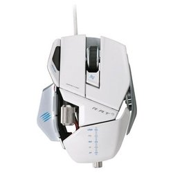 mad catz r.a.t.5 2013 gaming mouse gloss white usb (белый)