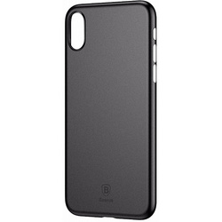 Чехол накладка для Apple iPhone Xs Max (Baseus Wing Case WIAPIPH65-EA1) (черный)