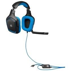 Logitech G430 Surround Sound Gaming Headset (черный/голубой)