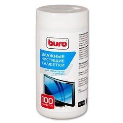 Влажные чистящие салфетки для экранов мониторов и оптики Buro BU-Tscrl